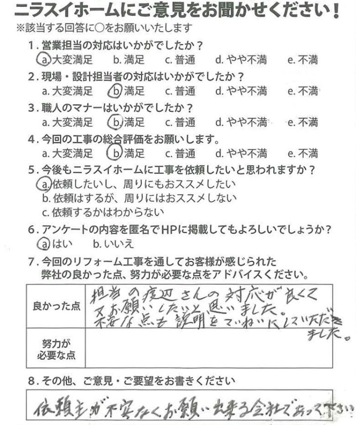 静岡県三島市 F様の声